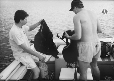 1980s-Trapper-John-and-Tim-Niles-Diving