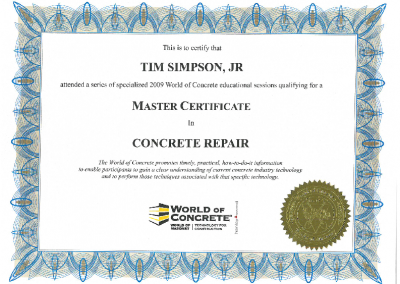 ACI ICRI Master Concrete Repair Tech