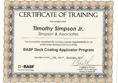 BASF Traffic Deck Coatings Tech