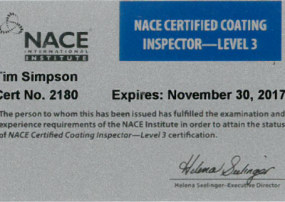 Current NACE Certification