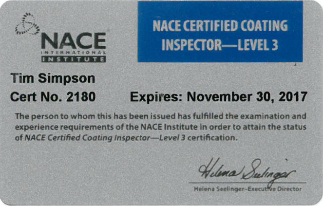 nace certification certificates affiliations certifications rd